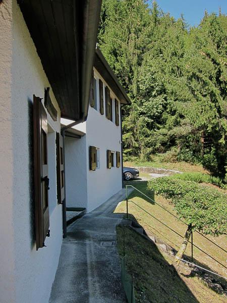 Zijaanzicht vakantiehuis Porcospino